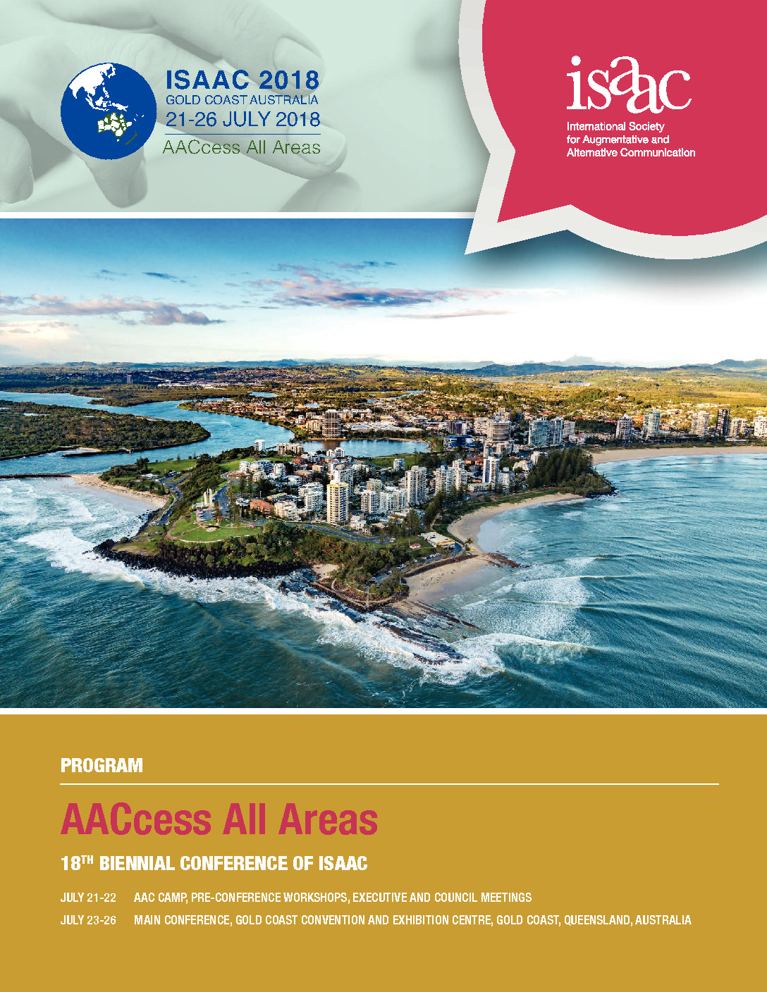 ISAAC 2018 Program: AACcess All Areas