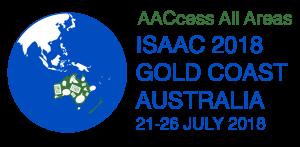 ISAAC 2018 logo 21 - 26 July-12