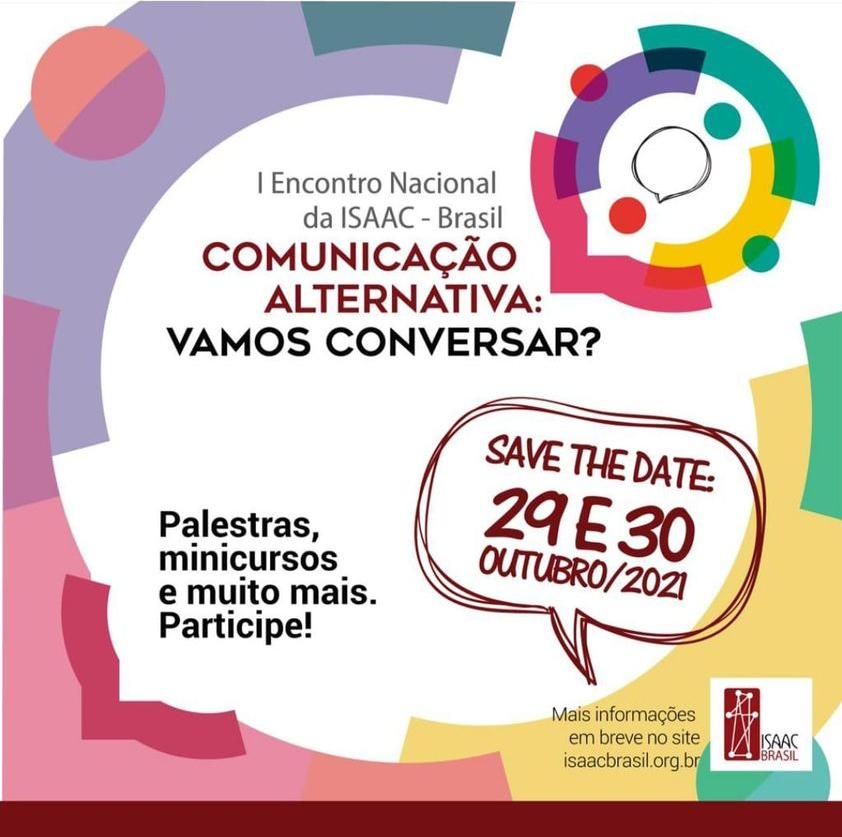 Save the Date: 29 E 30 Outubro/2021
