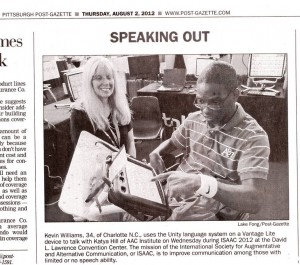 Newspaper article on ISAAC 2012, Pittsburgh, PA, USA
