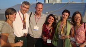 Welcome Reception, ISAAC 2012 (L to R) Nadia Browning, Franklin Smith, Jeff Riley, Tracy Shepherd, Beata Batorowicz, and Aldona Mysakowska Adamczyk