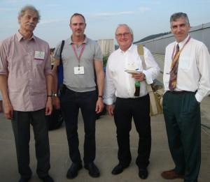 (L to R) Stephen von Tetzchner, Jeff Riley, Søren Vintergaard, and Franklin Smith